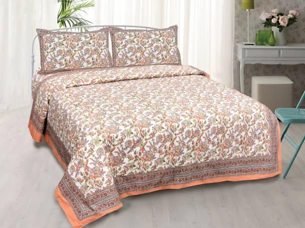 Koji 144 TC Cotton Double Printed Bedsheet
