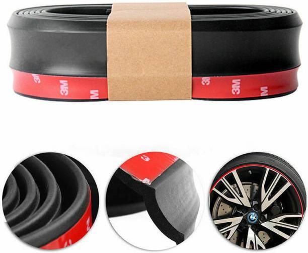 PECUNIA Car SUV Rubber Lip Skirt Protector Front Bumper Spoiler Side Splitter 2.5M Black A259 Car Beading Roll For Bumper