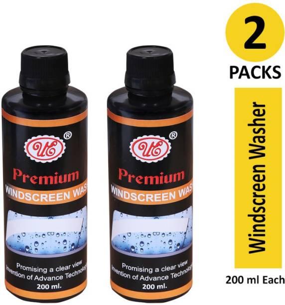 UE Premium Windscreen Washer Fluid Concentrate Set of 2 Car Glass Scrape Cleaner