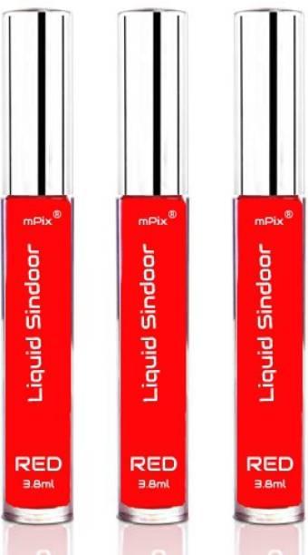 mPix Herbal Matte Liquid Sindoor (Pack of 3) Sindoor
