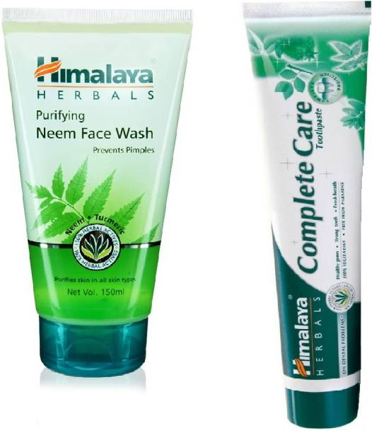 Himalaya Herbals Purifying Neem Face Wash 150ML & Complete Care Tooth Paste 80GM