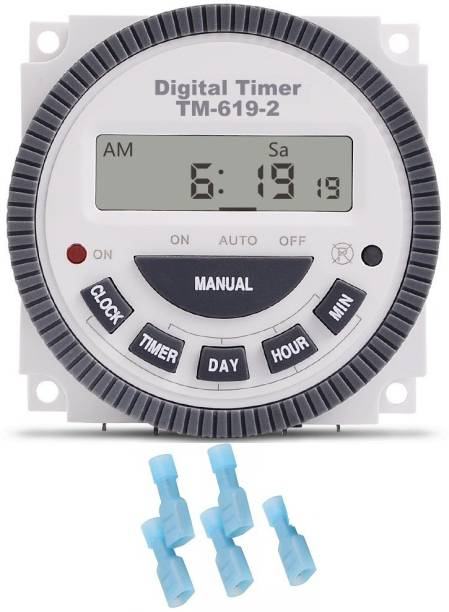 Divinext Frontier Digital Timer TM619H-2 30 Amps 5 Pin Microprocessor Control with Thimbles Programmable Electronic Timer Switch
