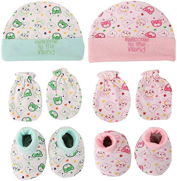 PIKIPOO Baby Cap and Combo Set for baby girls and boys Gift set