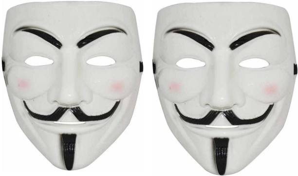 Stardom style Vendetta Character Mask (Pack of 2, White) Party Mask