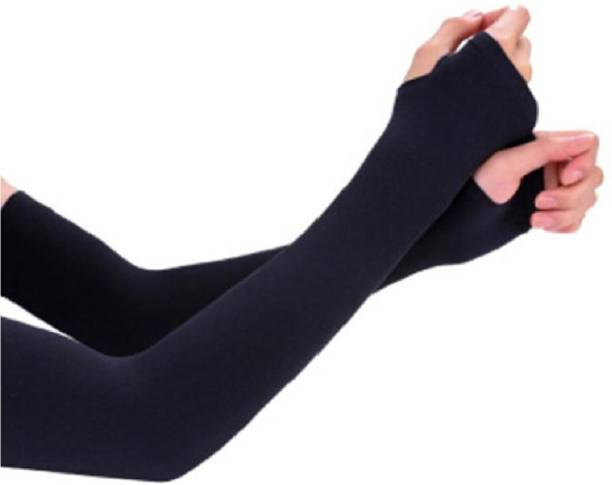 SKYBLUE Nylon Arm Sleeve For Men & Women Gym & Fitness Gloves