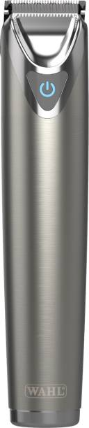 WAHL Stainless Steel - slate grey Trimmer Desigened and Devloped in USA   Made in USA   The Brand Used by Professionals clippers and trimmers have been used by professionals in the salon & barber industry since 1919  Runtime: 240 min Grooming Kit for Men