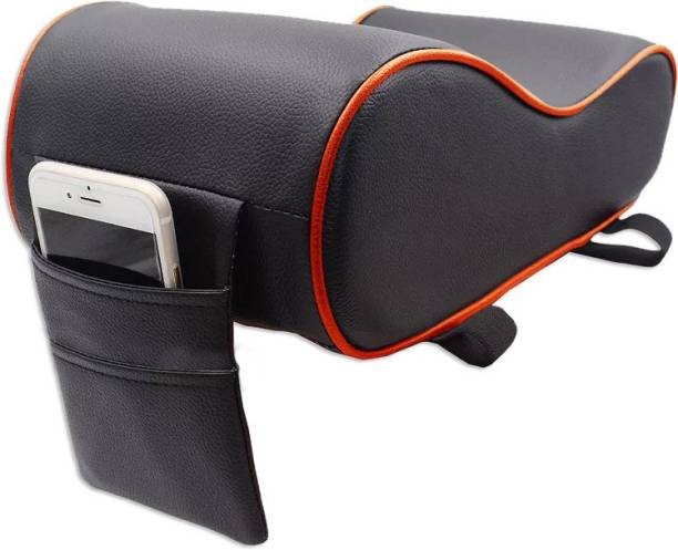 AutoFurnish Premium Car PU Leather Memory Foam Center Console Armrest with Pocket Car Armrest