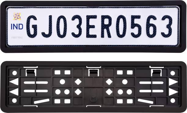 Crezza Car High Security Number Plates Frame Holder Universal for all Car Models. Car Number Plate