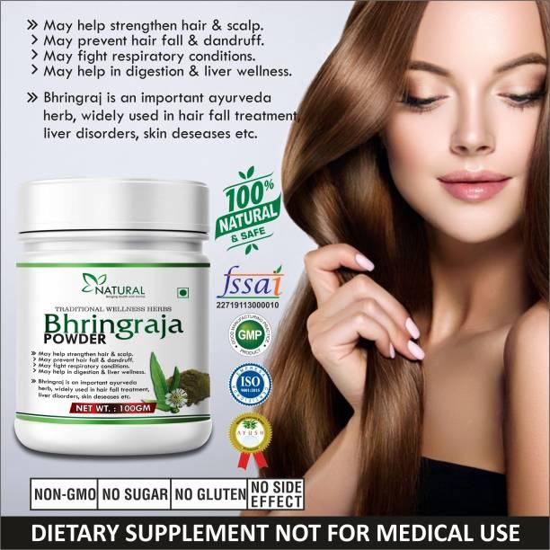 Riffway Bhringraja Powder For Skin, Hair & High Blood Pressure 100% Ayurvedic