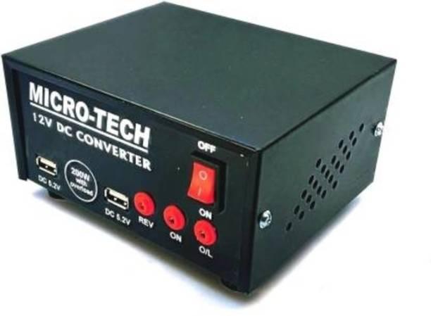 Electrify 200 watt Dc to Ac Converter 2 USB Powered 12v DC to AC Converter 200 Watt for Multiple Applications Worldwide Adaptor