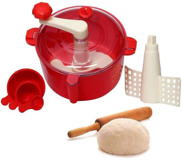 Montreal Dough/Atta Maker Must for Every Kitchen for 1 Set Color:- Red Plastic Detachable Dough Maker (Red) Plastic Detachable Dough Maker