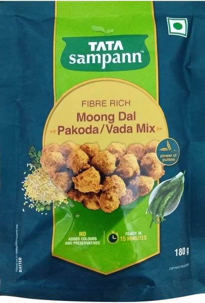 Tata Sampann Fibre Rich Moong Dal Pakoda/Vada Mix 180 g