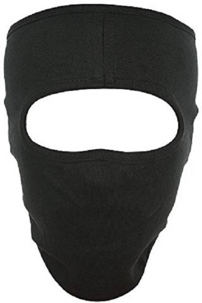 IM UNIQUE Black Bike Face Mask for Men & Women