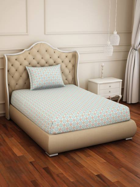 Welspun 150 TC Polycotton Single Abstract Bedsheet