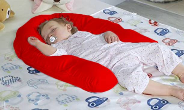 Pexmoon Pillow New Born Portable Feeding Pillow/Nursing Pillow/Lounger/Sleeping Pillow | Infant Support for Baby and Mom with Detachable Cover Breastfeeding Pillow