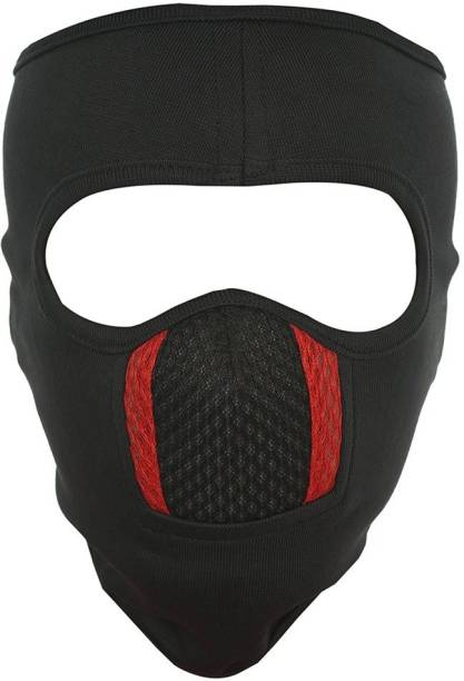 IM UNIQUE Black Bike Face Mask for Men & Women