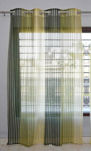 La elite 153 cm (5 ft) Net Window Curtain Single Curtain