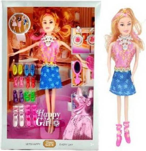Kmc kidoz Doll with accessories and dresses Multicolor