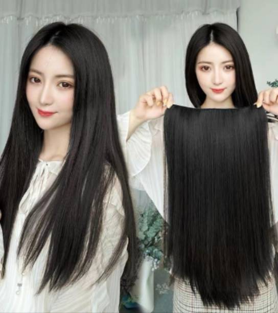 Alizz 5 clip based black straight Hair Extension