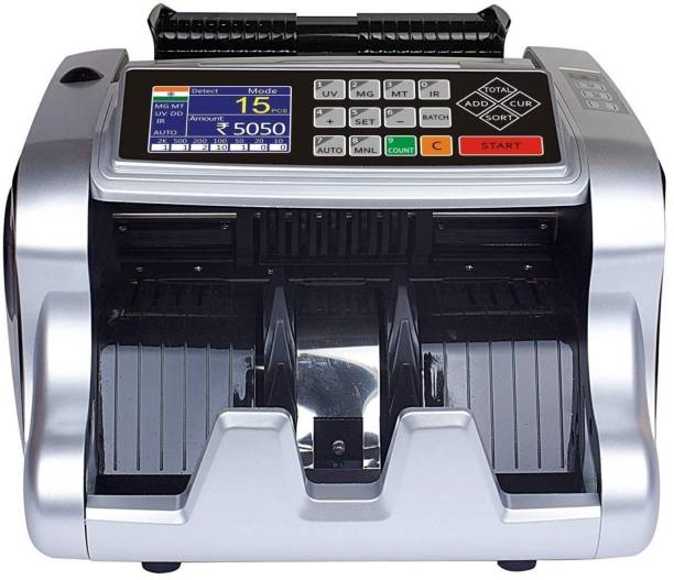 Drop2Kart MixValue Money Counter – Fast, User-Friendly, 4 FakeNote Detection (UV, MG, MT, IR), Supports All Indian Currency Note Counting Machine