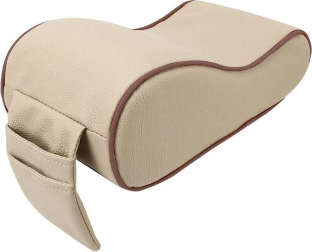 AutoFurnish Premium Car PU Leather Memory Foam Center Console Armrest with Pocket (Beige Brown) Car Armrest