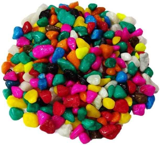 Nitishree Multi-Colored Pebbles/Gravels/Stone1kg Gravel Planted Substrate