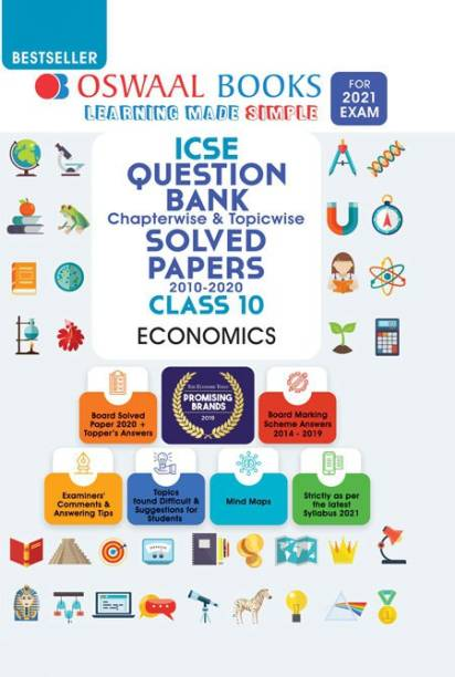 Oswaal ICSE Question Bank Class 10 Economics Book Chapterwise & Topicwise (For 2021 Exam)