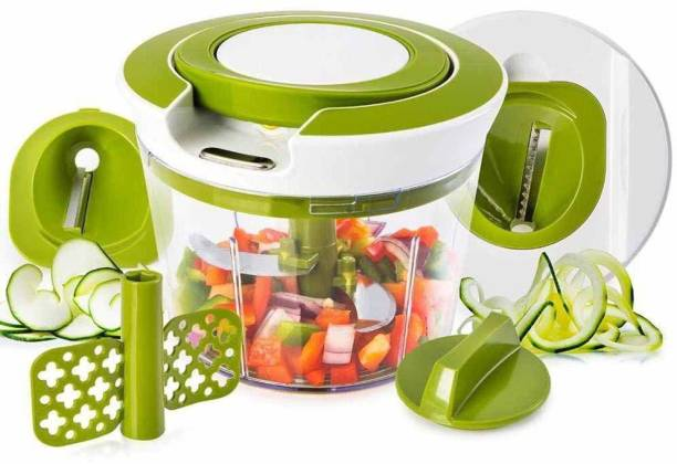 GLAMAXY Manual 2 in 1 Handy Smart Chopper for Vegetable Fruits Nuts Onions Chopper Blender Mixer Food Processor Vegetable & Fruit Chopper