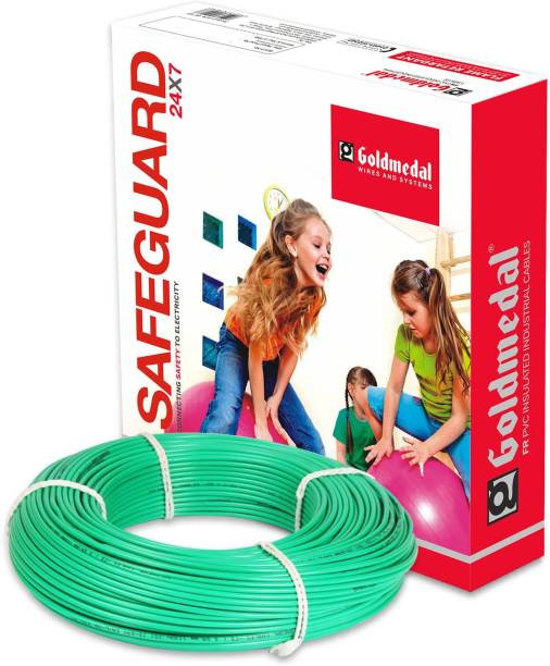 Gold Medal FR Grade PVC Compound Green 90 m Wire