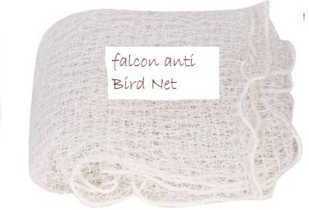 Falcon 30 Ft X 10 FT White Anti Bird Net (19 mm Mesh Size) with Cable Ties(40) Camping Net