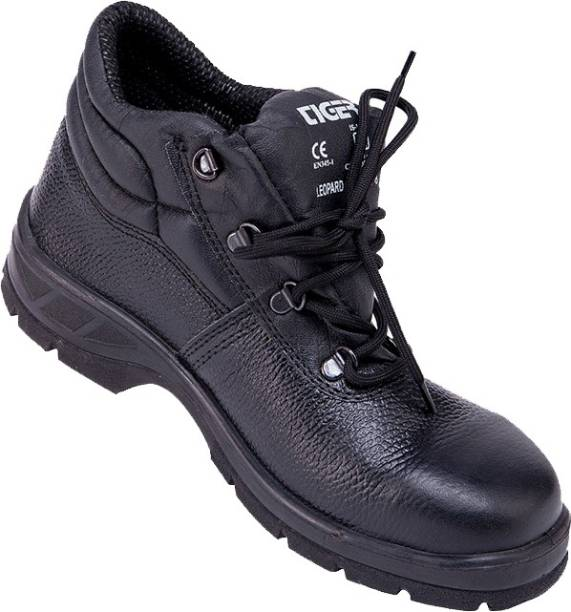 Mallcom Tiger LEOPARD High Ankle Leather Safety Shoes Steel Toe Grain Leather Safety Shoe