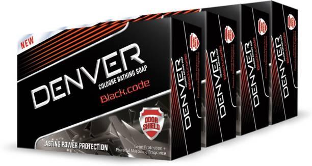 DENVER Black Code Soap (Pack Of 4)