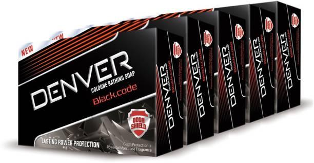 DENVER Black Code Soap (Pack Of 5)