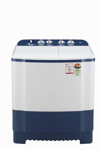 LG 6.5 kg 4 Star Semi Automatic Top Load White, Blue