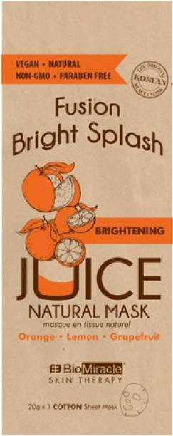 BioMiracle Fusion Bright Splash Juice Natural Mask