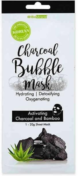 BioMiracle CHARCOAL BUBBLE SHEET MASK