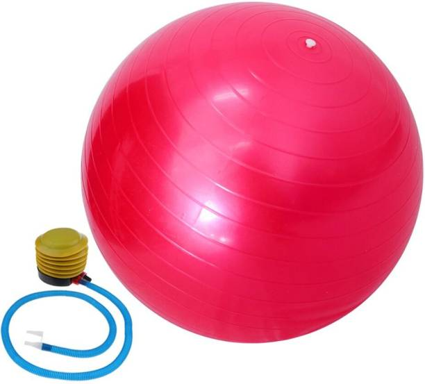 WOLBLIX Anti-Burst Workout Exercise Gym Ball 55cm with Pump for Fitness, Exercise ,Yoga Gym Ball