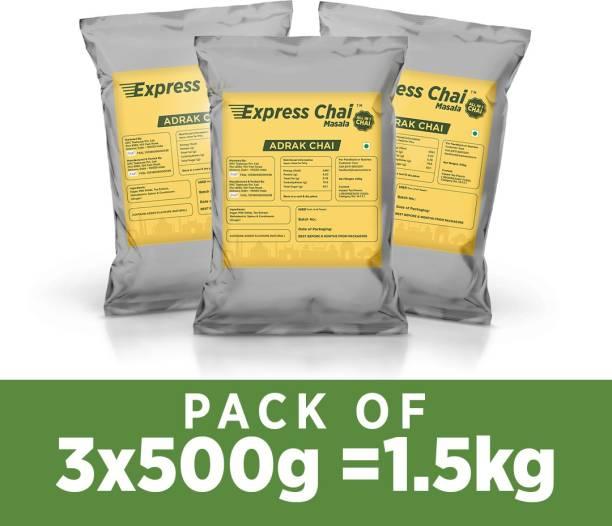Express Chai Masala Yellow Adrak Elaichi Chai (Ginger, Cardamom) Flavour Tea Vending Machine Premix Ginger, Cardamom Instant Tea Pouch