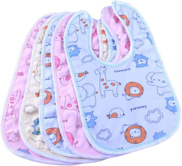 PRMAAN New Born Baby Eating Bibs 5pcs