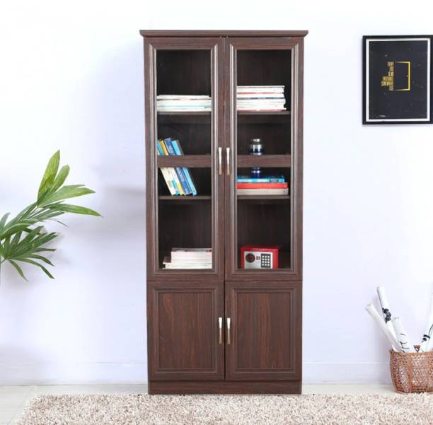 HomeTown Camilla Engineered Wood Close Book Shelf Finish Color   Brown