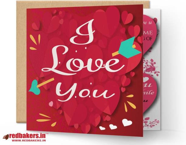 redbakers.in I Love You True Meaning Greeting Card Greeting Card