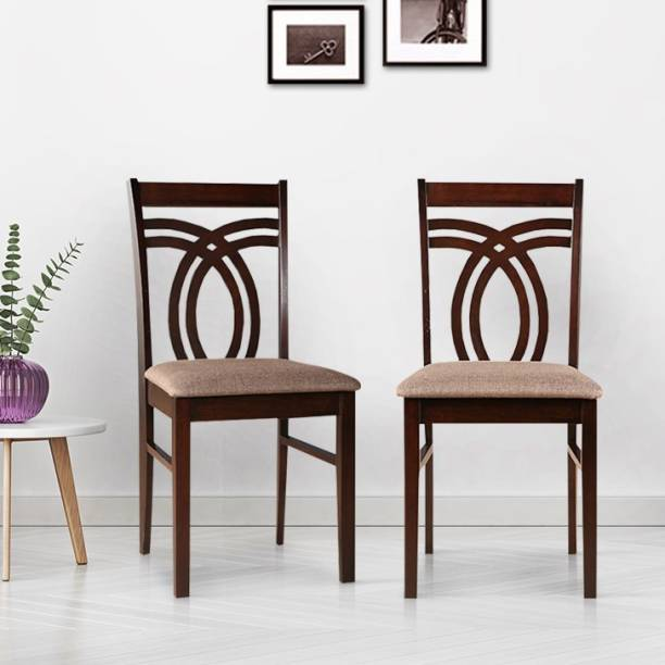 HomeTown Stella Solid Wood Dining Chair   Set of 2, Finish Color   Dark Walnut