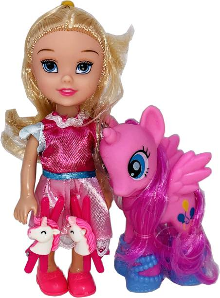 Arock Small Size Little Pony & Princess Tiny Doll Set For Girls , Pocket Size Dolls & Its Easy To Carry While Travelling every day Use Dolls For Girls