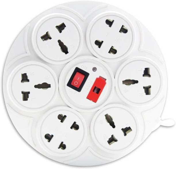 DIGWAY Round 8 Socket 1 Switch 6 A Three Pin Socket