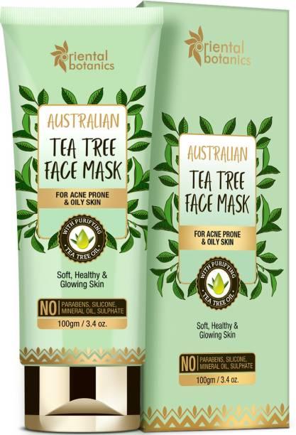 Oriental Botanics Australian Tea Tree Face Mask 100gm| For Soft, Healthy Skin, No SLS and Paraben