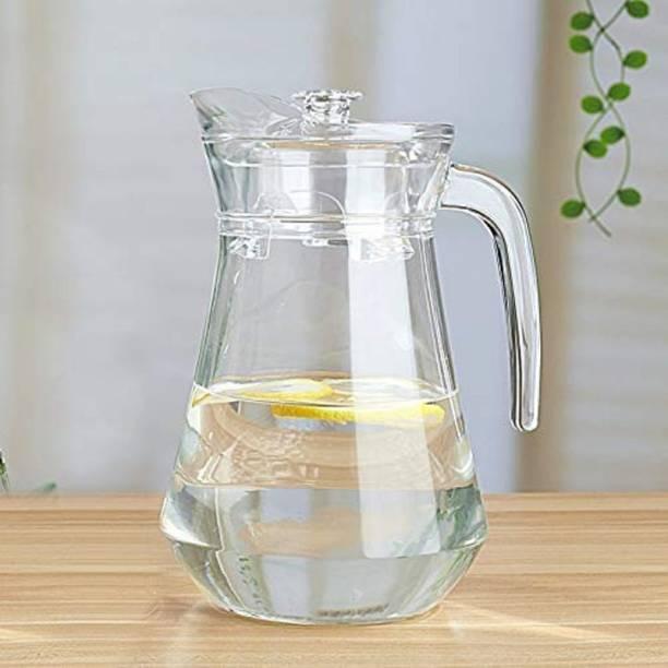 Joy2u 1.3 L Water Aquatic Glass jug Pitcher with Lid 1.3 LTR (1) Jug