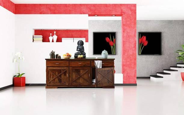 Shagun Arts Solid Wood Kitchen Cabinet