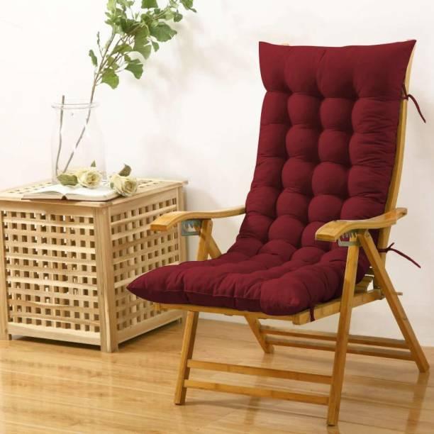 SAI BAZAAR Long Chair Pad Microfibre Solid Chair Pad Pack of 1