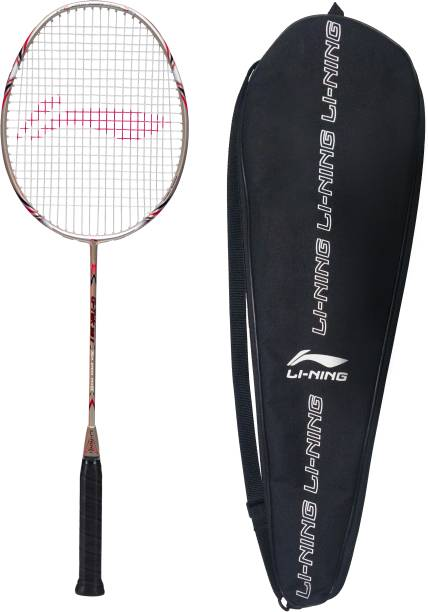 Li Ning G TEK 38 II Red, Black, Gold Strung Badminton Racquet