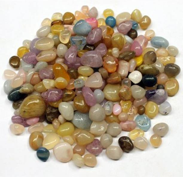 vanni obsession Multi Colour Onex Stone For Garden Home Decor And Fish Tank( 1KG )ONEX-5 Polished Asymmetrical Onyx Stone